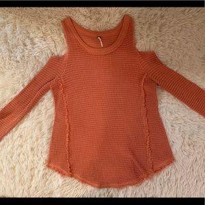 Free People Cutout Shoulder Sweater Sz S